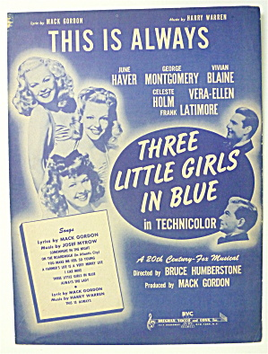 Sheet Music For 1946 This Is Always