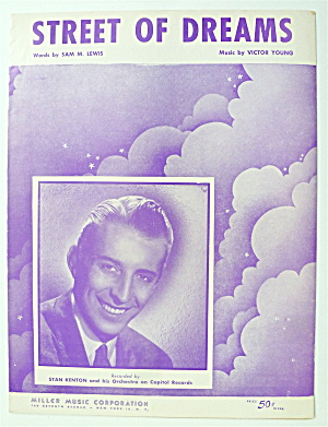 Sheet Music For 1951 Street Of Dreams