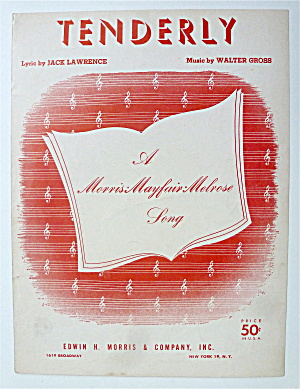 Sheet Music For 1956 Tenderly