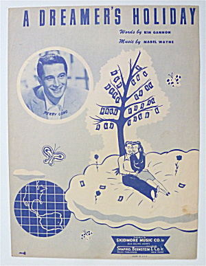 Sheet Music 1949 A Dreamer's Holiday