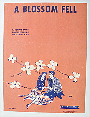 Sheet Music 1956 A Blossom Fell