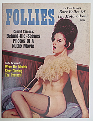 Follies Magazine May 1970 Bare Belles Of The Motorbikes