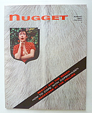 Nugget Magazine August 1957 Beauty & The Beach