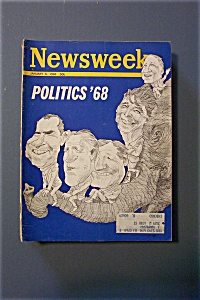 Newsweek Magazine - January 8, 1968 - Politics '68