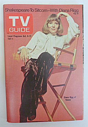 Tv Guide October 6-12, 1973 Diana Rigg Of Diana