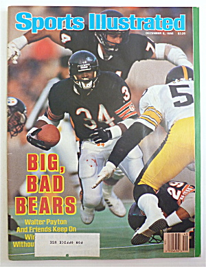 Sports Illustrated December 8, 1986 Walter Payton