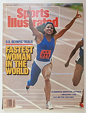 Sports Illustrated July 25, 1988 Florence Joyner