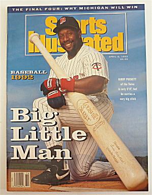 Sports Illustrated Magazine-April 6, 1992-Kirby Puckett (Image1)