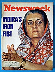 Newsweek Magazine - July 7, 1975 - Indira's Iron Fist (Image1)