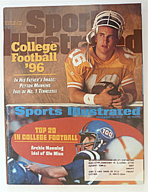 Sports Illustrated-august 26, 1996-peyton Manning