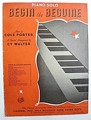 Sheet Music For 1911 Begin The Beguine
