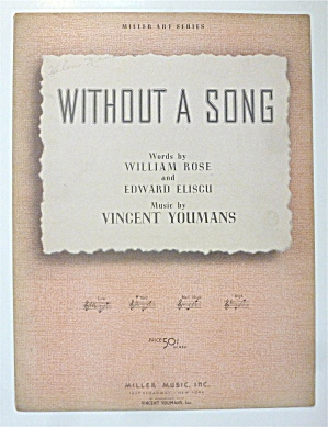 Sheet Music For 1929 Without A Song