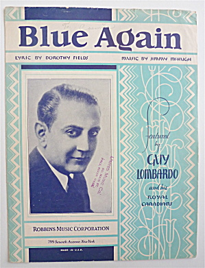 Sheet Music For 1930 Blue Again (Image1)