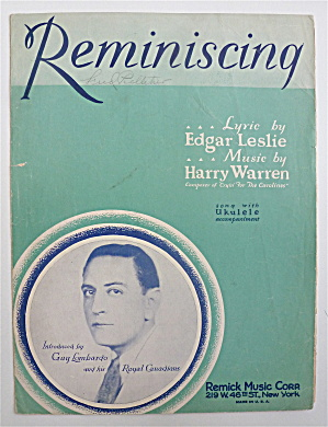 Sheet Music For 1930 Reminiscing  (Image1)