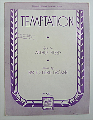 Sheet Music For 1933 Temptation