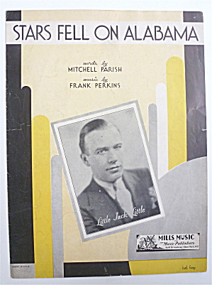 Sheet Music For 1934 Stars Fell On Alabama