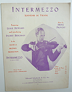 Sheet Music For 1936 Intermezzo