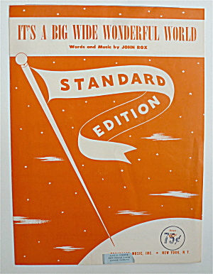 Sheet Music For 1940 It's A Big Wide Wonderful World