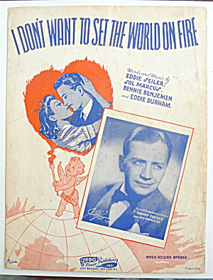 Sheet Music 1941 I Don't Want To Set The World On Fire