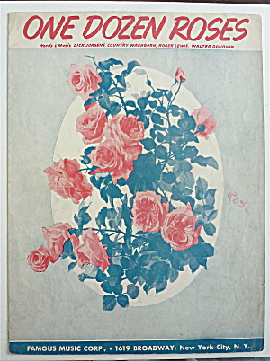 Sheet Music For 1942 One Dozen Roses