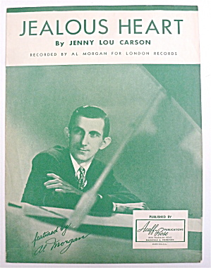 Sheet Music For 1944 Jealous Heart