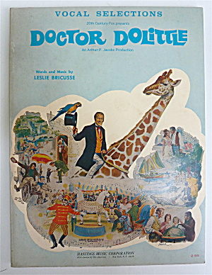 Sheet Music Book 1967 Doctor Dolittle Vocal Selections