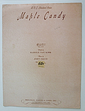 Sheet Music For 1947 Maple Candy