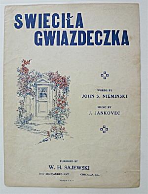 Sheet Music For 1942 Swiecila Gwiazdeczka (Image1)