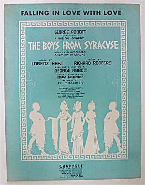 Sheet Music For 1938 Falling In Love With Love