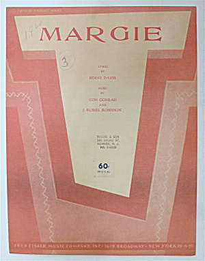Sheet Music For 1948 Margie