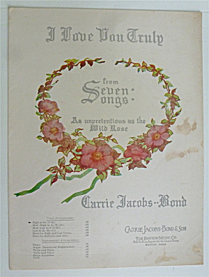 Sheet Music For 1938 I Love You Truly