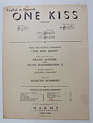 Sheet Music For 1948 One Kiss