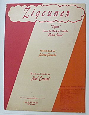 Sheet Music For 1942 Zigeuner
