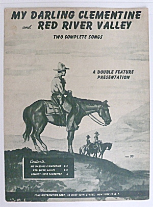 Sheet Music For 1947 My Darling Clementine