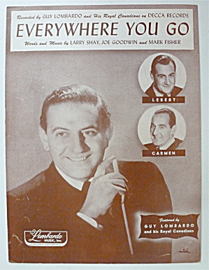 Sheet Music For 1949 Everywhere You Go