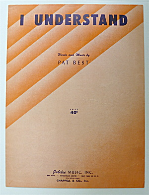 Sheet Music For 1953 I Understand