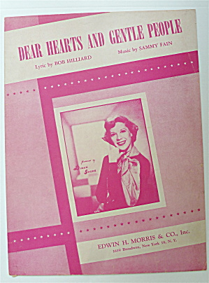 Sheet Music For 1949 Dear Hearts And Gentle People