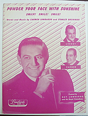 Sheet Music For 1948 Powder Your Face With Sunshine