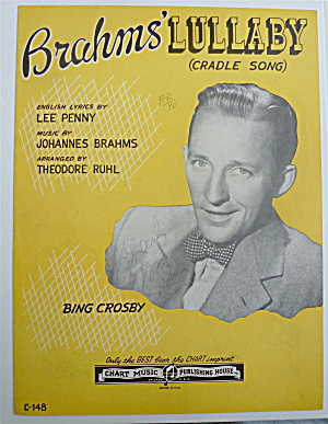Sheet Music For 1945 Brahm's Lullaby (Cradle Song)