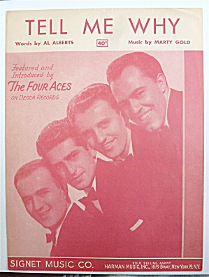 Sheet Music For 1951 Tell Me Why