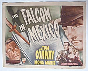 The Falcon In Mexico Lobby Card 1944 Tom Conway