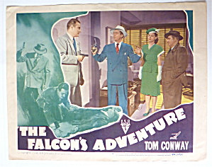 The Falcon's Adventure Lobby Card 1946 Tom Conway