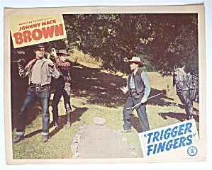 Trigger Fingers Lobby Card 1940's Johnny Mack Brown