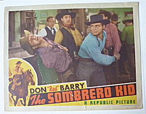 The Sombrero Kid Lobby Card 1940's Don (Red) Barry