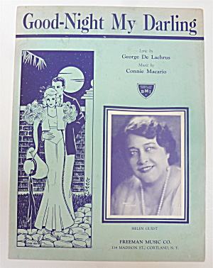 Sheet Music 1943 Good Night My Darling