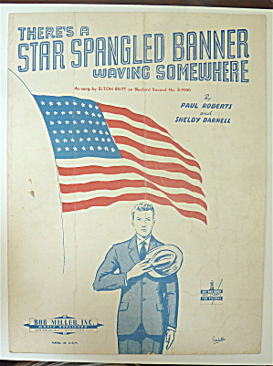 Sheet Music 1942 There's A Star Spangled Banner Waving