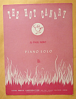 Sheet Music For 1948 The Hot Canary