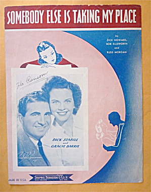 Sheet Music For 1941 Somebody Else Is Taking My Place