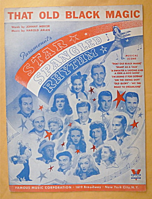Sheet Music For 1942 That Old Black Magic