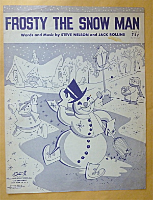 Sheet Music For 1950 Frosty The Snowman